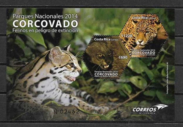 Sellos fauna felinos Costa Rica
