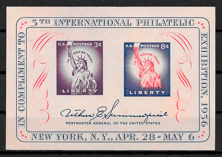 sellos arquitectura EE.UU 1956