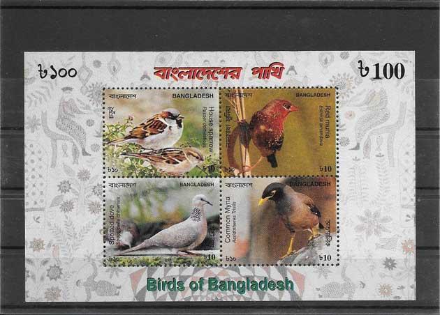 Sellos Bangladesh fauna- aves