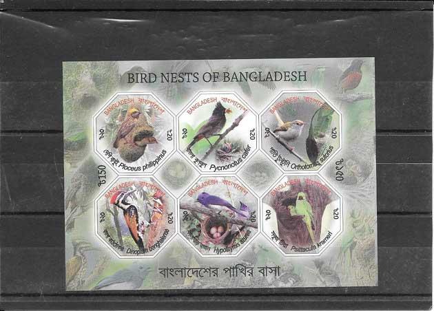 Sellos  filatelia  fauna Bangladesh-2012-03