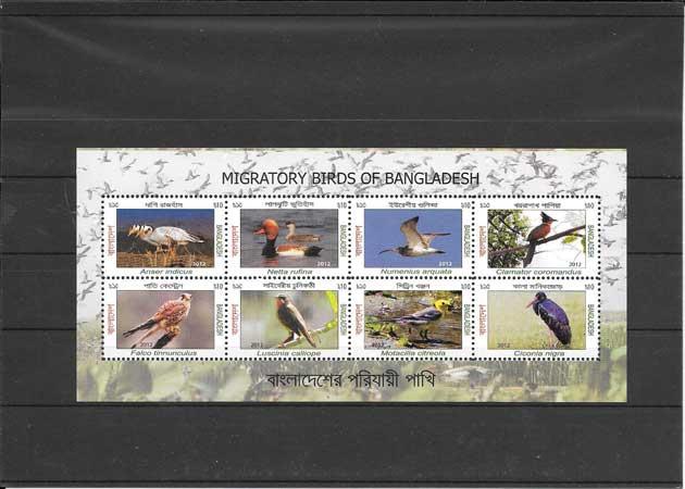 Colección sellos fauna Bangladesh-2013-02