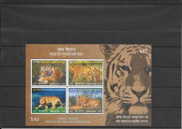 Colección sellos fauna Bangladesh-2013-05