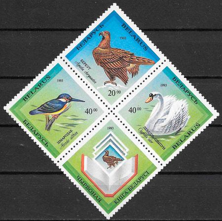 filatelia fauna Bielorrusia 1994