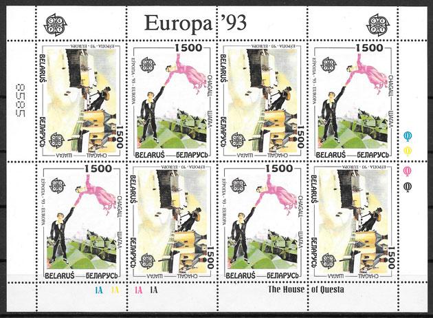 sellos Europa Bielorrusia 1994