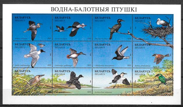 sellos fauna Bielorrusia 1996