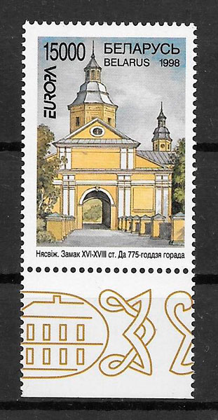 filatelia colección tema Europa Bielorrusia 1998