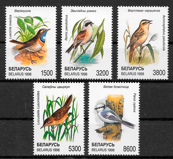 filatelia fauna 1998 Bielorrusia