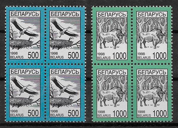 sellos fauna Bielorrusia 1998