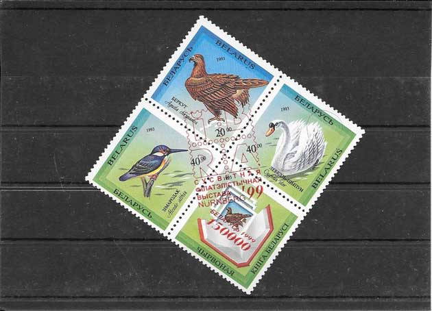 Sellos filatelia fauna Bielorrusia-1999-01