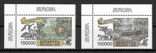 filatelia colección tema Europa Bielorrusia1999