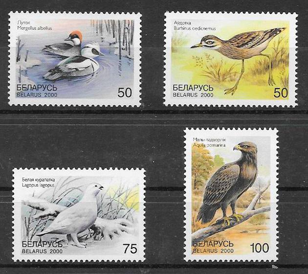 colección sellos fauna Bielorrusia 2000