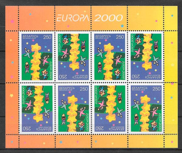 colección sellos tema Europa Bielorrusia 2000