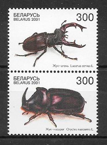 colección sellos fauna Bielorrusia 2001