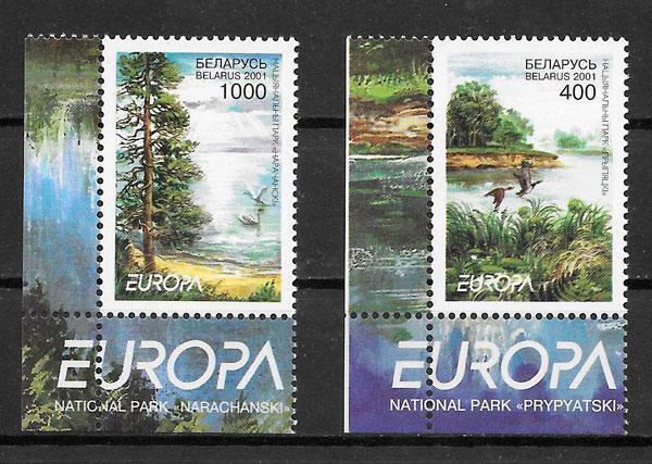 sellos tema Europa Bielorrusia 2001