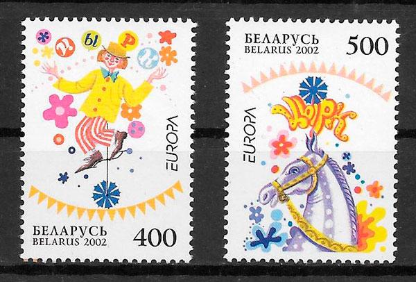 sellos tema Europa Bielorrusia 2002