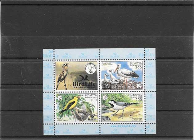 Filatelia sellos  hojita de fauna protegida