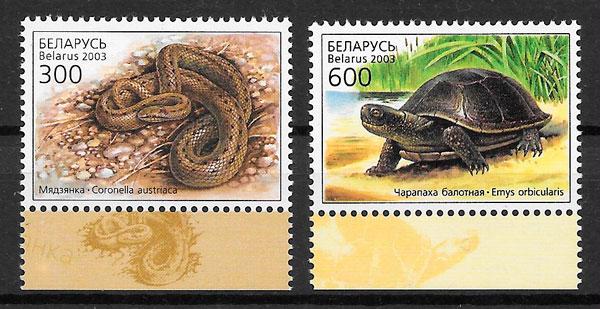 sellos fauna Bielorrusia 2003