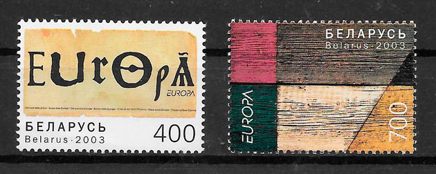filatelia tema Europa Bielorrusia 2003
