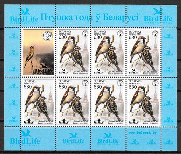 colección sellos fauna Bielorrusia 2003