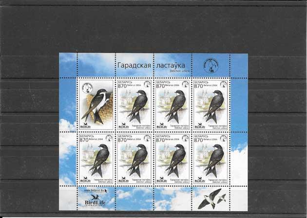 Filatelia sellos fauna Bielorrusia-2004-00