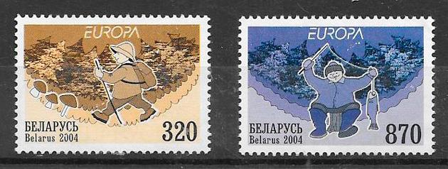 filatelia colección tema Europa 2004