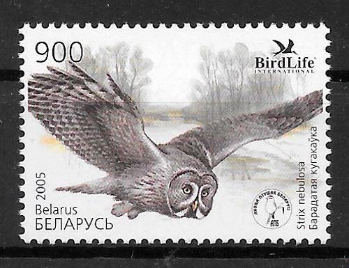 filatelia colección fauna Bielorrusia 2005