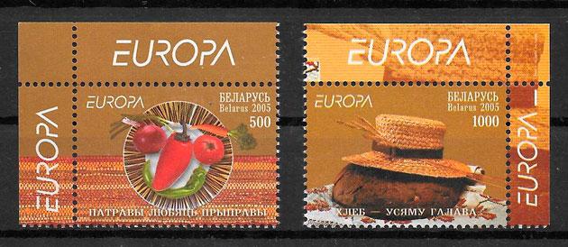 colección sellos tema Europa Bielorrusia 2005