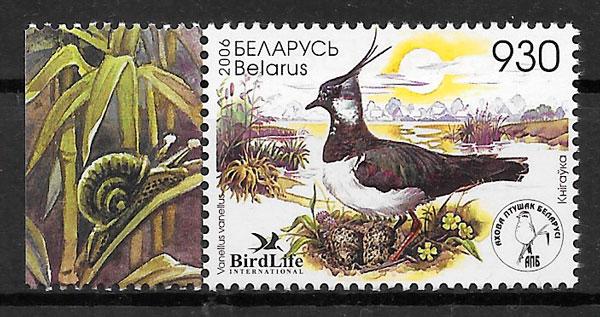 filatelia fauna Bielorrusia 2006