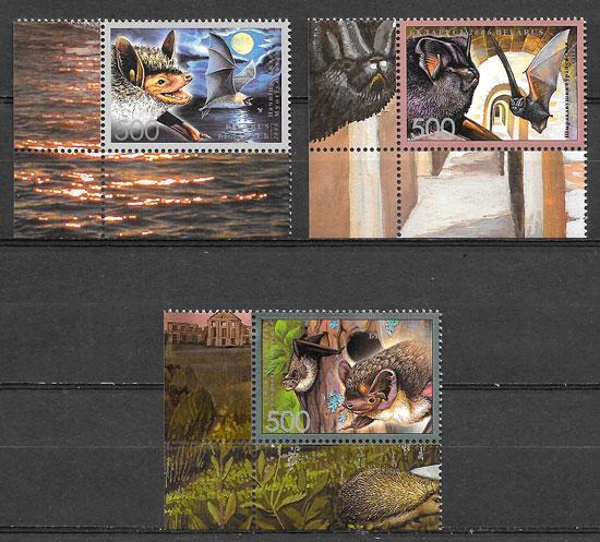 filatelia colección fauna Bielorrusia 2006