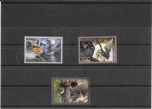 Colección sellos serie, bloque y hojitas tema fauna- murciélagos