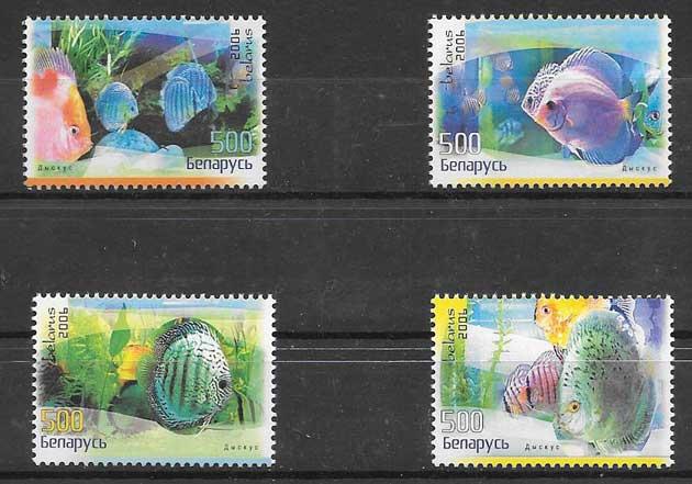 Colección sellos fauna - diversos peces 2006