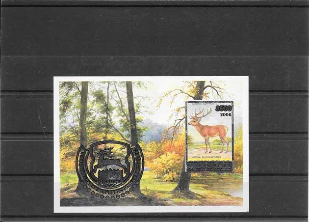 Colección sellos tema fauna el ciervo