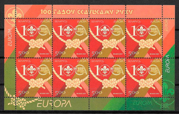 sellos tema Europa Bielorrusia 2007