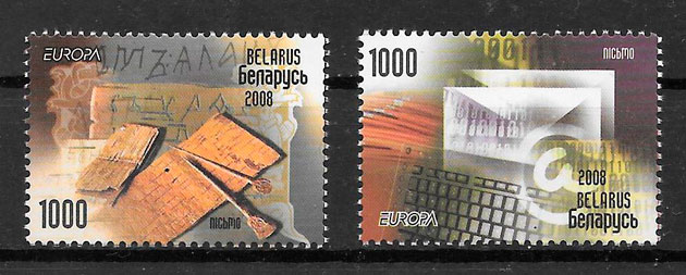 sellos tema Europa Bielorrusia 2008