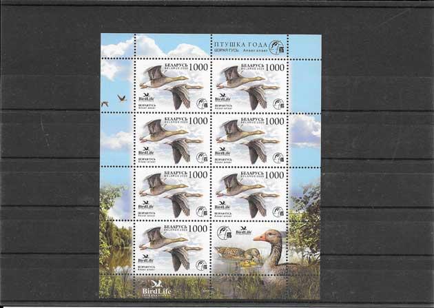 Colección sellos fauna- gansos protegidos