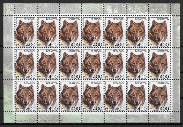 colección sellos fauna Bielorrusia 2008