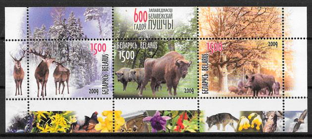 filatelia fauna Bielorrusia 2009