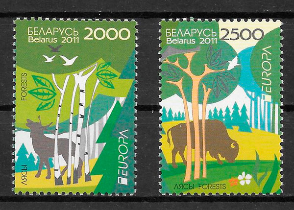 filatelia colección tema Europa Bielorrusia 2011
