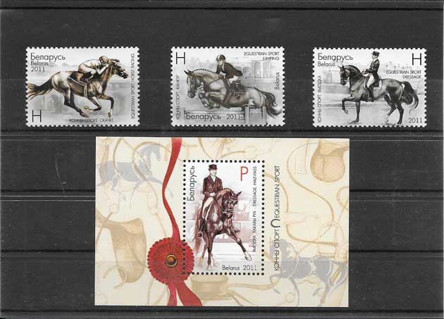 sellos del deporte equitación
