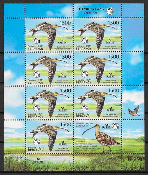 filatelia colección fauna Bielorrusia 2010