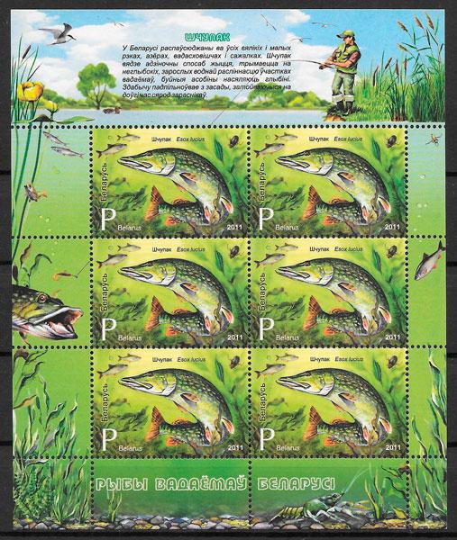 filatelia colección fauna Bielorrusia 2011