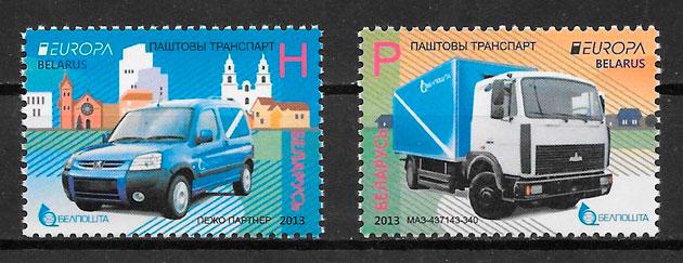 sellos tema Europa Bielorrusia 2013