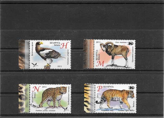 Filatelia sellos fauna del Zoo de Bielorrusia