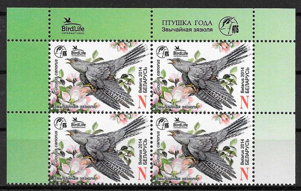 filatelia fauna Bielorrusia 20013
