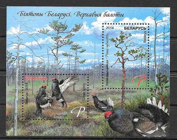 Filatelia sellos fauna Bielorrusia-2014-01