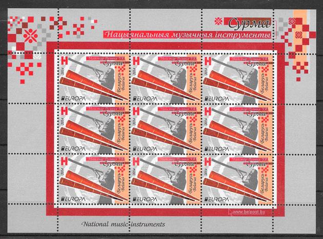 sellos tema Europa Bielorrusia 2014