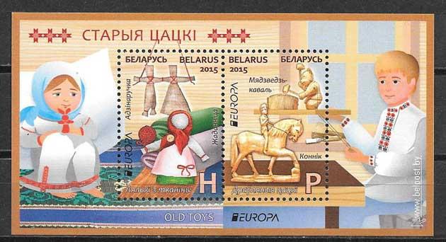 sellos tema Europa Bielorrusia 2015