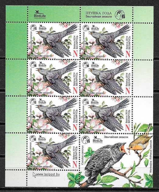 filatelia fauna Bielorrusia 2014
