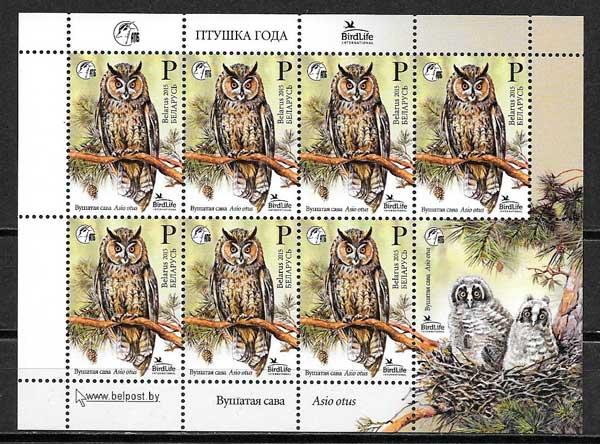 Filatelia fauna 2015 Bielorrusia