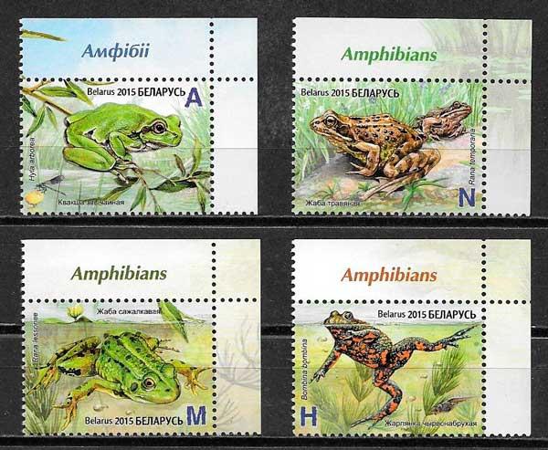Filatelia fauna Bielorusia 2015